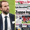 Italian press taunt England and Gareth Southgate for 'needing assist of referee' to beat Denmark to seal place in Euro 2020 closing