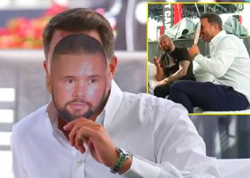 Eddie Hearn does amusing impression of Tony Bellew to his face